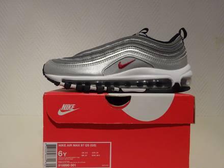 Nike <strong>Air</strong> <strong>Max</strong> <strong>97</strong> QS <strong>Silver</strong> Bullet (GS) US6Y/EUR38.5 - photo 1/5