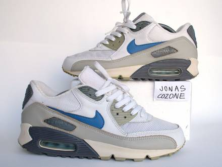 Nike Air Max 90 (wmns us11) 2004 beige bone blue white escape 2 ii silver surfer - photo 1/7