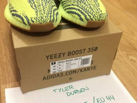 Adidas Yeezy Boost 350 V2 Semi Frozen Yellow US10 - photo 1/8