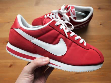 NIKE CORTEZ BASIC RED / WHITE 2010 317249-600 12US / UK11 / EUR46 / 30CM USED IN PERFECT CONDITION N - photo 1/8