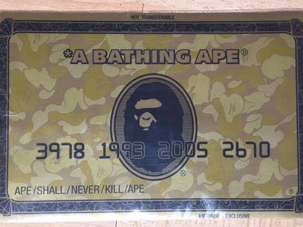 <strong>A</strong> <strong>Bathing</strong> <strong>Ape</strong> MousePad (membership exclusivity) - photo 1/5
