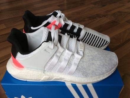 <strong>Adidas</strong> EQT Support 93/17 <strong>White</strong> Core Black Turbo <strong>Boost</strong> 93 17 - photo 1/5