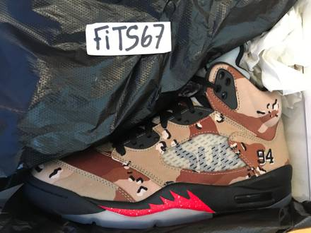 <strong>Air</strong> <strong>Jordan</strong> V 5 AJ5 <strong>Supreme</strong> <strong>Desert</strong> <strong>Camo</strong> - US 9 - photo 1/6