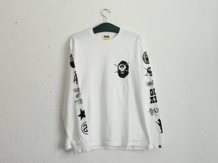 Stussy X <strong>A</strong> <strong>Bathing</strong> <strong>Ape</strong> LS Tee (Bape Collab) - photo 1/7