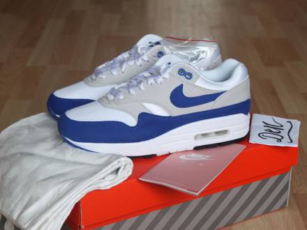 Nike Air max 1 Anniversary OG US 5.5 UK 5 Royal Blue 908375-101 Patta NEW DS - photo 1/7