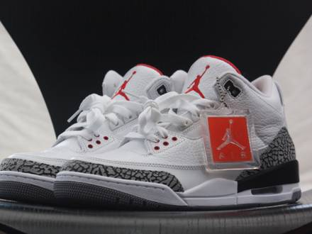 air jordan 3 sort cemændt grå