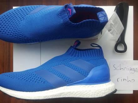 Adidas ACE 16 Purecontrol Ultra Boost blue pink US 10 UK 9.5 EU 44 - photo 1/5
