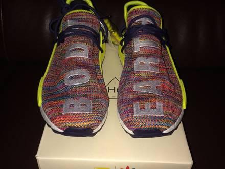 "PHARRELL X ADIDAS NMD HUMAN RACE TRAIL ""Multi Colour"" US 9 - photo 1/7"
