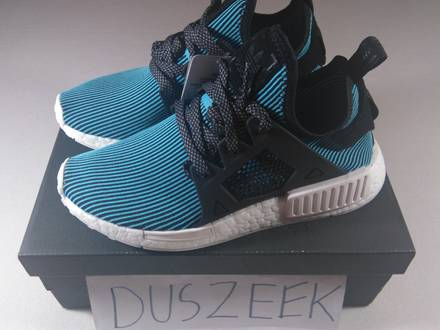 """<strong>ADIDAS</strong> <strong>NMD</strong> <strong>XR1</strong> PRIMEKNIT """"BRIGHT CYAN"""" 4US, 7.5US - 12.5US DS BLACK BLUE CAGED NOMAD LIMITED PK - photo 1/5"""