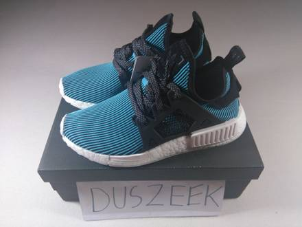 """<strong>ADIDAS</strong> <strong>NMD</strong> <strong>XR1</strong> PRIMEKNIT """"BRIGHT CYAN"""" 4US DS BLACK BLUE CAGED NOMAD LIMITED PK - photo 1/5"""