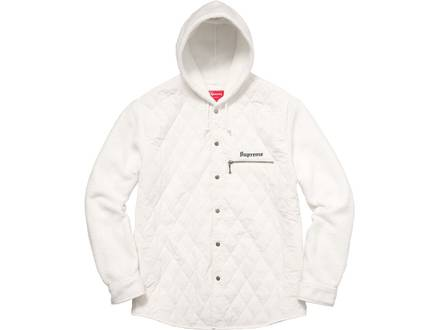 Supreme Hooded Fleece Nylon Shirt Size M - photo 1/6