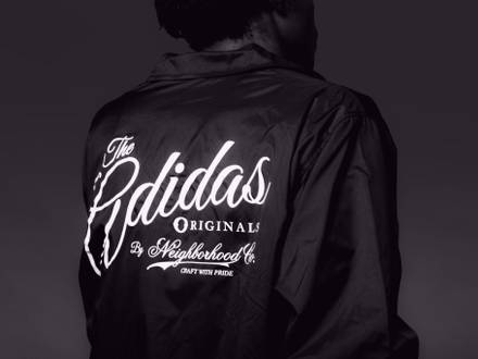 Adidas Originals x Neighborhood Coach Jacket Black Size L - photo 1/5