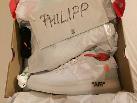 Off-White X Nike Air Force 1 US 10 UK 9 EU 44 *deadstock* - photo 1/6