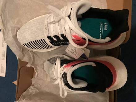 <strong>Adidas</strong> EQT <strong>Boost</strong> Support 93/17 <strong>White</strong> Turbo Red 44 und 44 2/3 44,5 Neu DS - photo 1/5