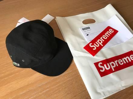 Lacoste x Supreme Black cap - photo 1/8
