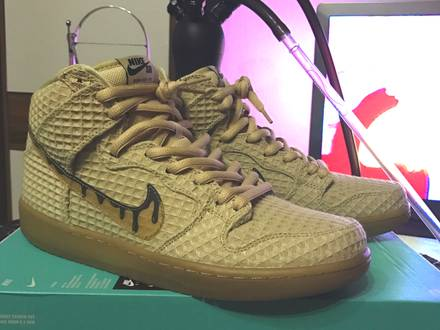 """<strong>Nike</strong> Dunk High Premium <strong>SB</strong> QS """"Chicken & Waffles"""". - photo 1/5"""