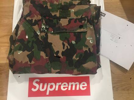 SUPREME FIELD PANT SWISS CAMO DS SIZE 34 - photo 1/8