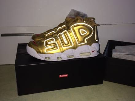 <strong>supreme</strong> X NIKE AIR <strong>UPTEMPO</strong> GOLD - photo 1/5