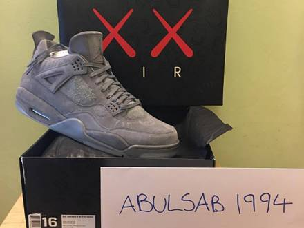 Nike Air Jordan KAWS us16 us11 *1850€* - photo 1/5