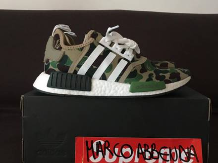 ADIDAS NMD R1 X BAPE US8 UK7,5 DS WITH TAGS - photo 1/5