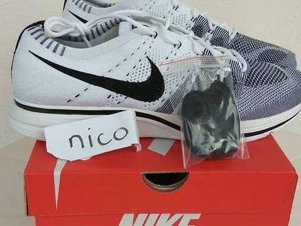 Nike Flyknit Trainer White Black (Various Sizes) - photo 1/8