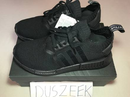ADIDAS NMD R1 PRIMEKNIT TRIPLE BLACK JAPAN PACK 5.5US TO 12US BRAND NEW - photo 1/5