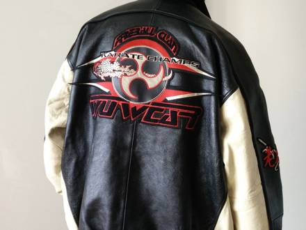 "Genuine wu-tang clan ""wu-wear"" leather jacket - photo 1/8"