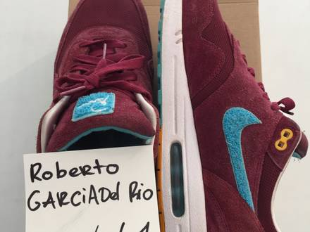 Nike Air max 1 Parra burgundy patta tz qs us 12 eu 46 - photo 2/5
