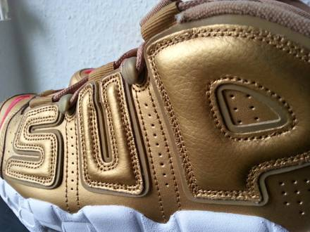 Nike x <strong>Supreme</strong> Air More <strong>Uptempo</strong> Gold 42 8,5 - photo 1/5