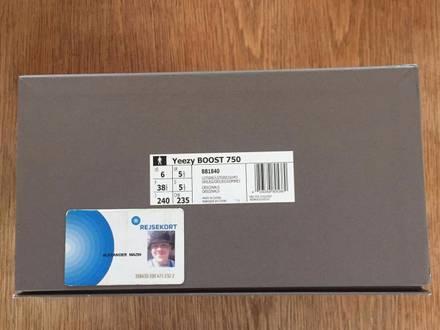 Adidas Yeezy Boost 750 Gum US 6 - photo 1/5