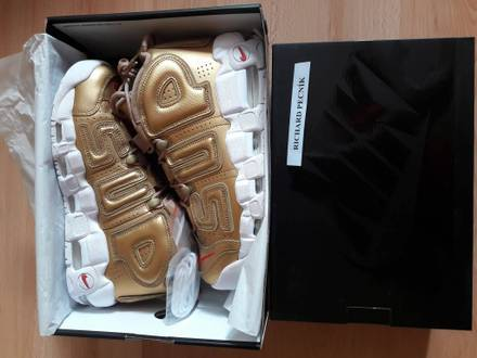 Nike x <strong>Supreme</strong> <strong>Uptempo</strong> gold US 8.5 - photo 1/8