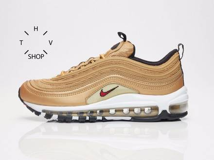 Nike <strong>Air</strong> <strong>Max</strong> <strong>97</strong> OG WMNS QS 885691-700 metallic <strong>gold</strong> silver bullet NEW - photo 1/7