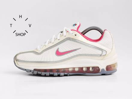 2008 Nike <strong>Air</strong> <strong>Max</strong> Medallion GS 95 <strong>97</strong> 98 white metallic <strong>silver</strong> pink 324538 161 DS deadstock OG - photo 1/8