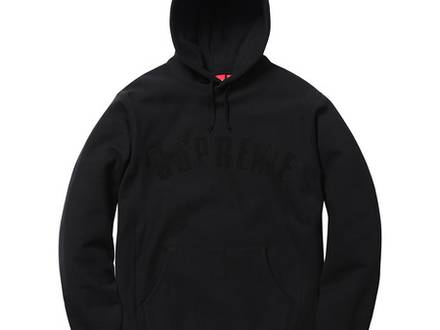 Supreme Chenille Arc Logo Hoodie - Black - Size M - DSWT - photo 1/6