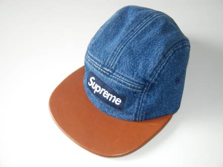 Supreme Denim leather camp cap - photo 1/5