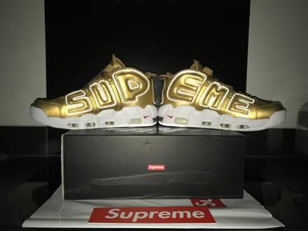 <strong>Supreme</strong> x Nike Air More <strong>Uptempo</strong> Suptempo Gold US 10 - photo 1/5
