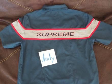 Supreme S/S Zip Up Work Shirt Blue Medium - photo 1/6