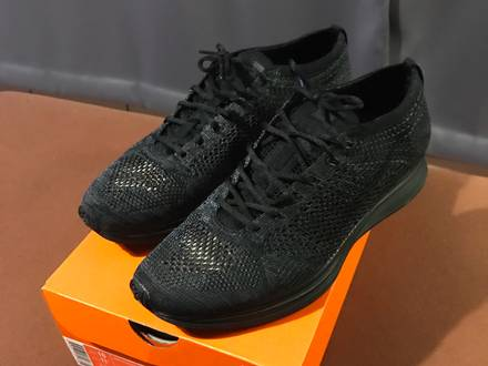 Nike Flyknit Racer 'Triple Black' - photo 1/6