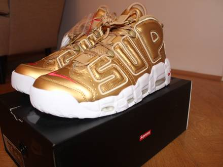 <strong>Supreme</strong> x Nike Air More <strong>Uptempo</strong> (Gold) 45.5/11.5 - photo 1/6