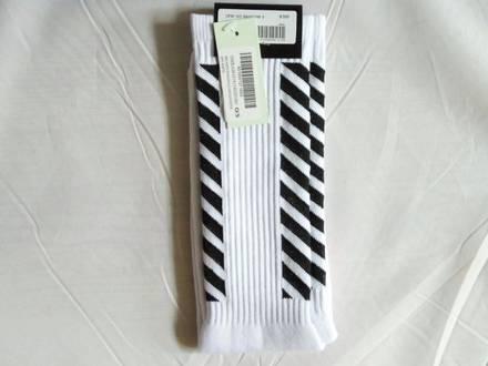 Off-White Virgil Alboh Stripe White Socks - photo 1/5