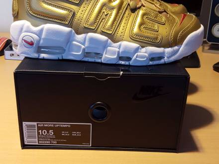 Nike Air More <strong>Uptempo</strong> x <strong>Supreme</strong> Gold - photo 1/7