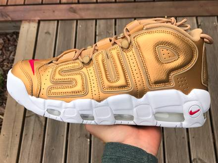 Nike <strong>Supreme</strong> <strong>uptempo</strong> gold - photo 1/5