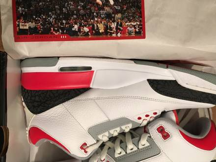 Nike Air Jordan 3 retro fire red 2006 DS - photo 1/7