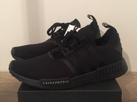 Adidas nmd r1 pk triple black japan - photo 1/6