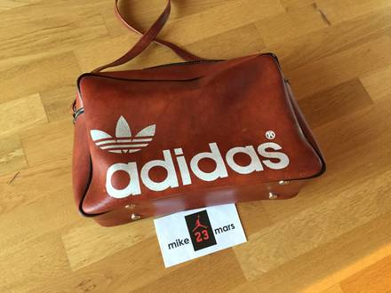 Adidas Vintage bowling leather bag from 70s - photo 1/7