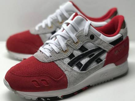 "Afew x asics gel lyte 3 ""koi"" - us8 - ds - photo 1/5"