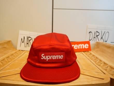 Supreme Box Logo Satin Camp Cap (RED) - photo 1/5