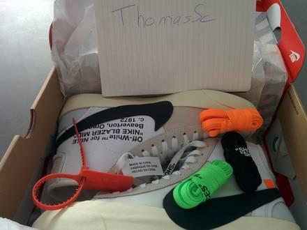 Nike x Off white Blazer Mid US 9.5 UK 8.5 EU 43 - photo 1/7