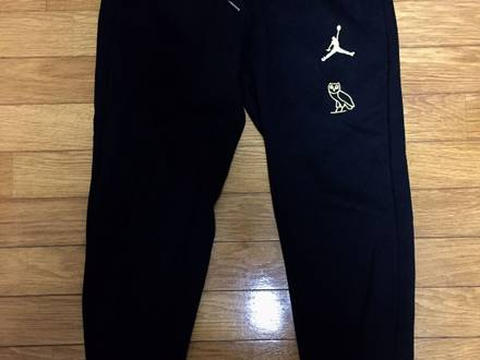 OVO X AIR JORDAN ALL STAR COLLECTION SWEATPANTS BLACK GOLD sz M OCTOBER'S VERY OWN DRAKE - photo 1/6