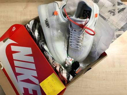 £1 UK/EU SHIPPING Nike x Off White Air Force 1 Low Virgil Abloh The 10 Ten UK10 US11 - photo 1/8
